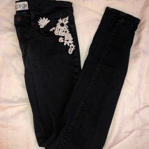 Faded Black Skinny Jeans